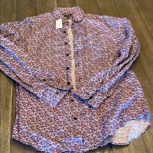 Express Slim Fit Floral shirt NWT